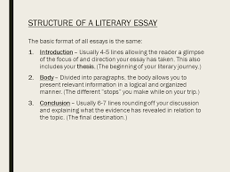 writing a literary analysis essay the only guide you will ever  5 structure