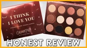 colourpop i think i love you palette review swatches