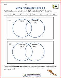Venn Diagram In Maths Venn Diagram Math Problems Worksheet Antihrap Com