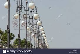 Special Lights Larnaca The Beautiful Row Of Lights Along The Sea Front At Larnaca