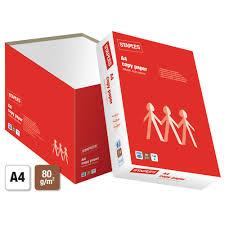 Staples A4 80 Gsm Copy Paper White 5 Ream Box Staples