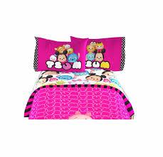 disney tsum tsum twin sheet 3 pcs set official licensed kids bedding 66x96 inch
