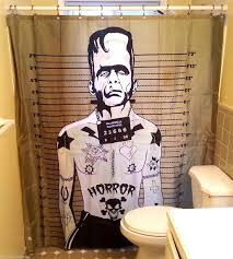 badass shower curtains. Badass Frankenstein Funky Bathroom Curtain Shower Curtains
