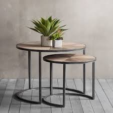 nesting end tables. Fulton Modern Nesting Coffee Tables, Metal And Wood End Tables