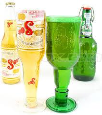 DIY recycled wine bottle glasses