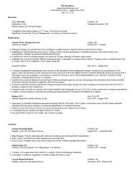 mba resume examples
