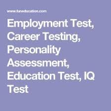 Career Assessment Test Free Pin On Work