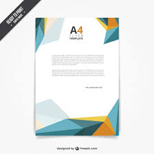 Free Flyer Template Download Flyer Template In Polygonal Style Vector Free Download