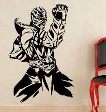 Small Picture Aliexpresscom Buy Scorpion Wall Sticker Mortal Kombat Game