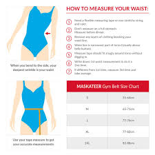In Shape Belt Size Chart Maskateer Store Size Charts