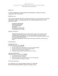 Restaurant Resume Template. Restaurant Sample Resume | Sample .