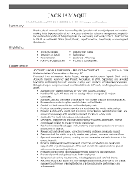 Resume Highlights Examples Professional Accounts Payable Supervisor Templates To Showcase 55