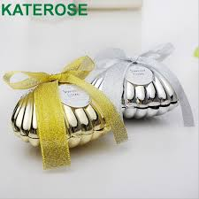Seashell Design Free Shipping 30pcs Lot Creative Seashell Design Gold Silver Plastic