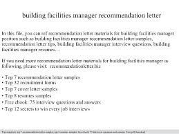 Facility Manager Cover Letter Cover Letter For Facilities Manager
