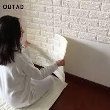 Outad New White 3d Modernes Design Ziegel Tapete Rolle Vinyl Wandverkleidung Papier Wohnzimmer Esszimmer Shop Hintergrund
