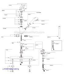 elegant moen single handle kitchen faucet repair diagram c moen faucet leaking