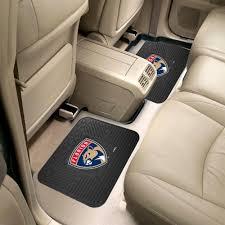 details about florida panthers 2 pc rear car floor mats heavy duty vinyl 14 x17
