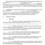 Partnership Non Compete Agreement Template 7 Sample Non Compete ...