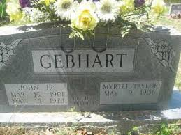 GEBHART, MYRTLE - Sharp County, Arkansas   MYRTLE GEBHART - Arkansas  Gravestone Photos