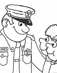 Kleurennu Politieagent Spreekt Kinderen Aan Kleurplaten
