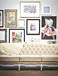 gallery wall set up frames