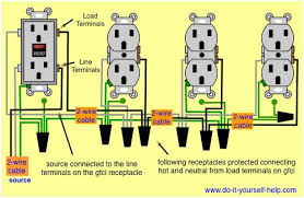 wiring diagram of a gfci to protect multiple duplex receptacles wiring diagram of a gfci to protect multiple duplex receptacles house projects