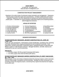 Construction Project Manager Resume Examples 9 Management Template