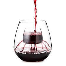 strange wine glasses. Stemless Fountain Aerating Wine Glass Set Inside Strange Glasses