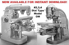 cincinnati dial type mill model om manuals cincinnati 2 3 and 4 dial type milling machines model om wiring diagram