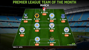 Along with the fans, the players are the most vital element for a club. Premier League Best Xi Manchester City Trio Make Team Of The Month
