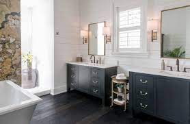 75 Beautiful Dark Wood Floor Bathroom Pictures Ideas April 2021 Houzz