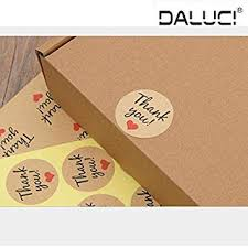 DALUCI <b>96Pcs Thank You</b> Brown Kraft Label Paper Stickers Party ...