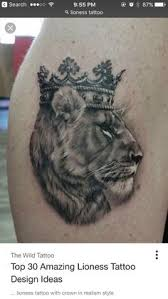 lioness with crown tattoo. Delighful With Lioness Tattoo Design Lion And Tattoo Female  Shoulder Samoan Cover Chest Sleeve Tattoos  With Crown