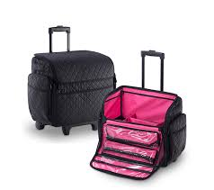 newest design quilted nylon trolley makeup bag nt5028