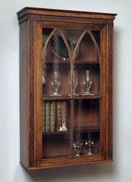 antique mahogany wall hanging cabinet