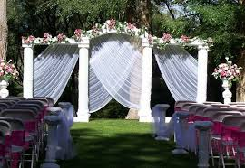 Garden Wedding Decorations Pictures 15 Cheap Wedding Ceremony Backyard Wedding Decoration Ideas On A Budget