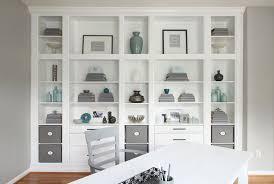 shelves for office. DIY Built In Shelves Office Moulding For