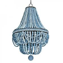 blue beaded chandelier