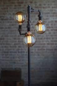 bare bulb lighting. Edison Bulb Floor Lamp - Industrial Furniture Standing Light Filament Bare Lighting