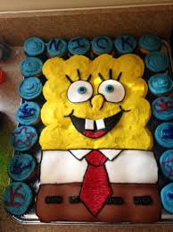 Spongebob Cupcake Cake My Talented Friend Made For My Sons 3rd