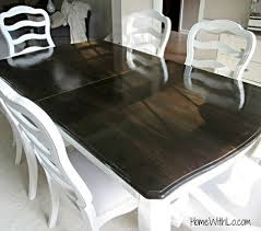 Image Oak Tutorial On Refinishing Wood Veneer Table Top Using Paint And Wood Stain Pinterest Tutorial On Refinishing Wood Veneer Table Top Using Paint And