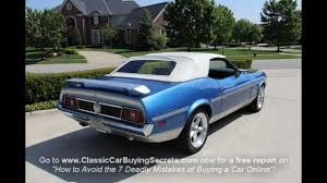 1972 Ford Mustang Mach 1 Convertible Classic Muscle Car for Sale ...