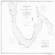 18 X 24 Inch 1862 Us Old Nautical Map Drawing Chart Of Potomac River Sheet No 3 From U S Coast Survey X3588