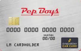 Visa, master, visa electron, etc. Pep Boys Credit Card Apply Today Pep Boys
