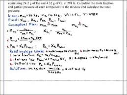 total pressure equation chemistry. partial pressure and mole fractions chemistry total equation