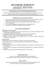 Job Resume Examples With Experience Revive210618 Com