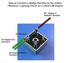 how should i connect a modern bridge rectifier to rectifier osmerus