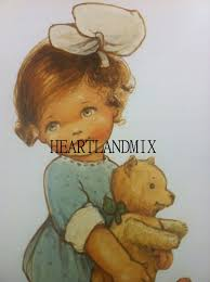 antique vintage child illustration image girl and teddy bear download printable wall art on vintage teddy bear wall art with antique vintage child illustration image girl and teddy bear