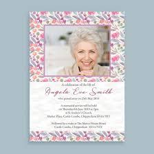 Memorial Announcement Cards Floral Print Funeral Memorial Announcement Cards From 1 00