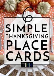 6 easy diy thanksgiving place card ideas